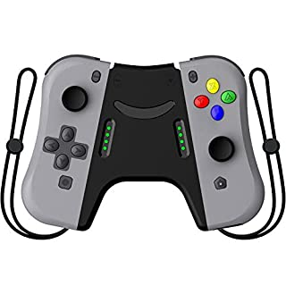 Kinvoca Joy Pad Controller for Nintendo Switch, L/R Switch Controller Replacement, Wired/Wireless Switch Remotes - Deep Gray with Grip
