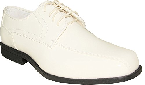 Jean YVES Dress Shoe JY02 Double Runner Tuxedo for Wedding, Prom and Formal Event (10.5 D(M) US, Ivory) - Jean Yves Tuxedos