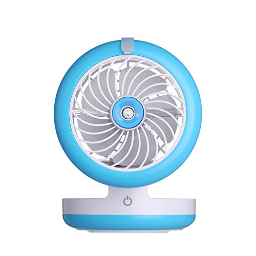 Hulorry Humidifier Fan USB Small Portable, Foldable Mini Humidifier Fan Portable Air Conditione Spray Fans USB Rechargeable Desktop Cooling Misting Fan Beauty Humidifier by Hulorry