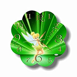 Art time production 1 FBA Tinker Bell 11.8'' Handmade Wall Clock - Get Unique décor for Home or Office - Best Gift Ideas for Kids, Friends, Parents and Your Soul Mates