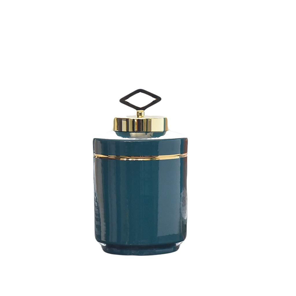 花瓶ヨーロッパライト高級セラミック花瓶装飾アメリカのリビングルームテレビキャビネットワインキャビネットホームポーチ装飾フラワーアレンジャー LQX (Size : M) B07SJDQQQV  Medium
