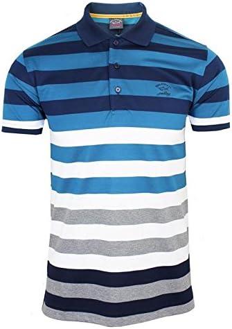 Paul & Shark Polo camiseta para hombre azul marino, blanco gris ...