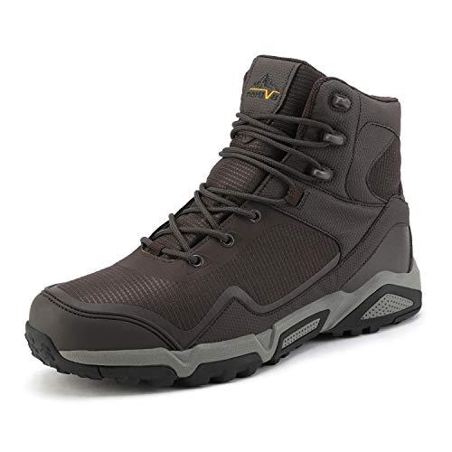 NORTIV 8 Men's Waterproof Hiking Boots Lightweight Mid Ankle Trekking Outdoor Tactical Combat Boots