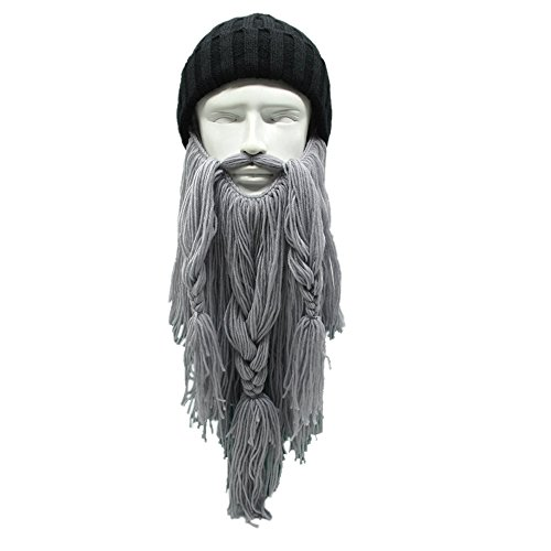 Knit Beard Hat Long Bearded Hat Detachable Bearded Face Mask Cap Outdoor Activities Skiing Skull - Beard Long Face For