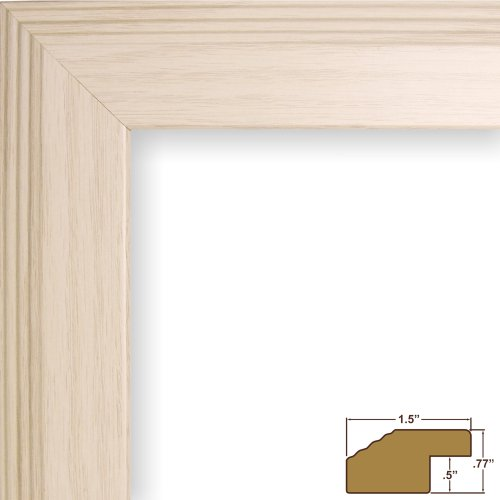 Craig Frames FW4WH 23 by 31-Inch Picture Frame, Smooth Wrap Finish, 1.5-Inch Wide, Off-White
