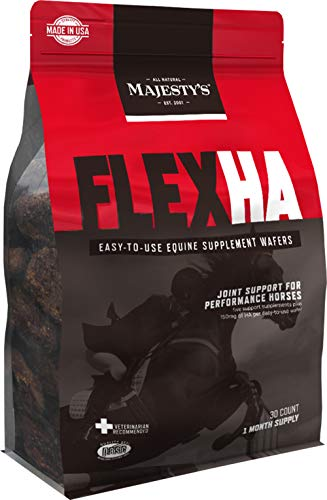 Majesty's Flex HA Wafers - Superior Performance Horse / Equine Joint Support Supplement - HA, Vitamin C, Yucca, Glucosamine - 30 Count (1 Month Supply)