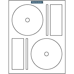 200 CD / DVD Labels Blank Labels Brand fits Memorex Full Face Compatible. Small Center Style. 200 Total Labels with Spine and Case Labels. Laser and Ink Jet Compatible