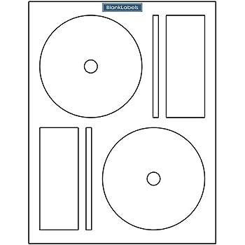 amazon com 500 cd dvd labels blank labels brand fit memorex full