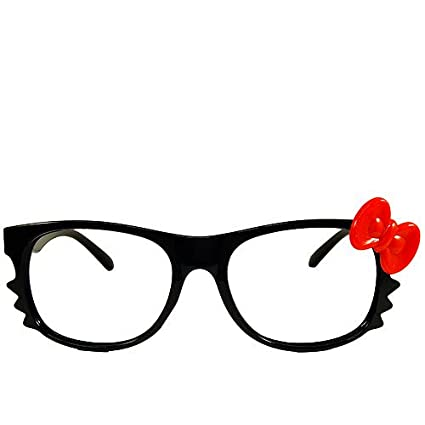 928316e5b Amazon.com: Hello Kitty Eyeglass All Black Frame with Red Bow (No Lens):  Arts, Crafts & Sewing