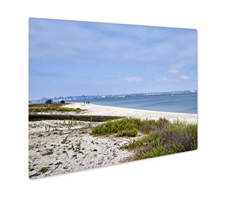Ashley Giclee Metal Panel Print, View From Beyond The Dunes Towards Chula Vista And San Diego, Wall Art Decor, Floating Frame, Ready to Hang 8x10, - Chula 10 Vista