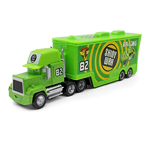 - Pixar Cars Toys Lightning McQueen Jasckson Storm The King Mack Hauler Truck Diecast Toy Cars 1:55 Loose Kids Toys Vehicle (No. 82 Shiny Wax Hauler Truck)