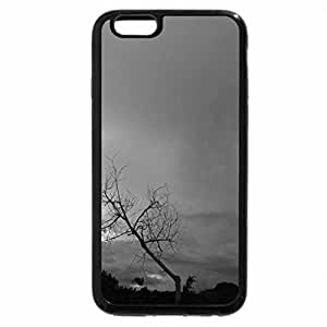 iPhone 6S Case, iPhone 6 Case (Black & White) - Lone Tree Touching the Sky