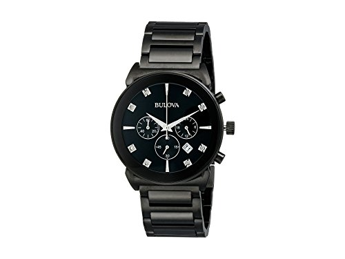Bulova Men's Diamonds - 98D123 Black ()
