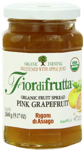 Grapefruit Spread - Rigoni Di Asiago Fiordifrutta Organic Fruit Spread, Pink Grapefruit, 9.17 Ounce
