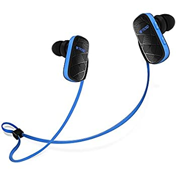 Bluetooth Headphones, TROND Edge Wireless Bluetooth Stereo Sports Headphones Headset Earbuds with Microphone, Noise Cancelling, IPX4 Sweatproof, for Gym, Running, Workout & Exercise - Blue