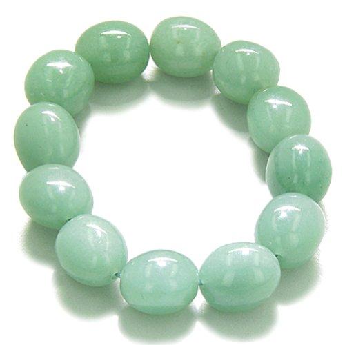 (Amulet Healing Green Quartz Tumbled Crystals Gemstone Bracelet)