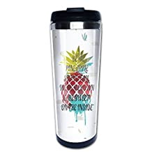 BE A PINEAPPLE STAND TALL WEAR A CROWN Coffee Tumbler Travel Mugs