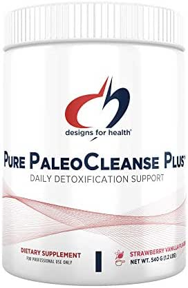 Designs for Health Pure PaleoCleanse Plus - Bone Broth Protein Detox Powder with 18g HydroBEEF Protein, Nutrients & Botanicals, Strawberry-Vanilla Flavor (15 Servings / 540g)