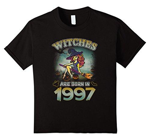 Kids Halloween 1997 - 20th Birthday Witches Tshirt 6 Black