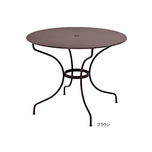 ユニソン フェルモブ オペラテーブル960 『ガーデンテーブル』 ブラウン B00AE25IA6