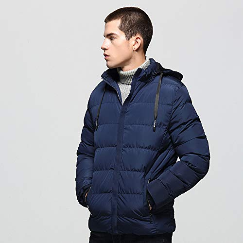 Men's Autumn Winter Casual Pocket Zipper Cotton Hoodie Thermal Top Coat Big and Tall by Allywit (Image #3)