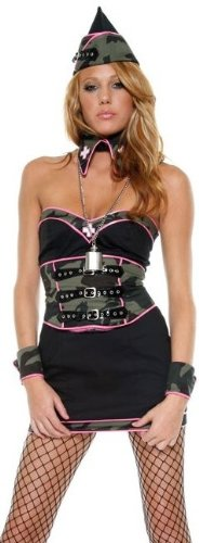 Army Nurse Betty Sexy Costume by Forplay Green -