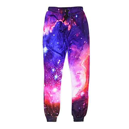 Buy cheap suny space galaxy pants men pattern print joggers sports trousers outdoor harem jogging sweatpants