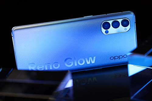 """Original Oppo Reno 4 Pro 5G Smartphone 8G+128GB 6.5"""" 90Hz AMOLED Snapdragon765G 65W SupperVOOC Octa Core 48MP Camera 4000Mah OTG NFC Support Google by-(Real Star Technology ) (Crystal Blue)"""