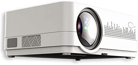 プロジェクタ 家庭やオフィスのためのミニホームシアターデジタルプロジェクターLCD 500 ANSIルーメン720P ーカー ホームシアター 天井投影 (Color : Silver Grey, Size : One size)