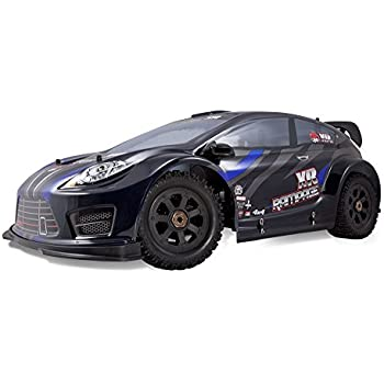 Redcat Racing Rampage XR Rally Car, 1/5 Scale Gas, 2.4GHz Radio, 6v 2500mAh Battery and Charger for Receiver Included (1/5 Scale), Black/Blue