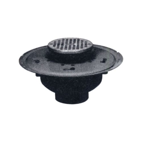 Oatey 72012 PVC Adjustable Commercial Drain with 5-Inch S...
