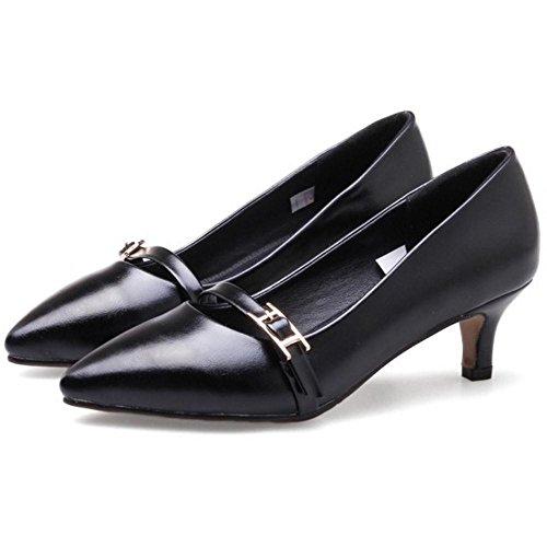 Black Heel Women Pumps Kitten RAZAMAZA Simple SYXqW6