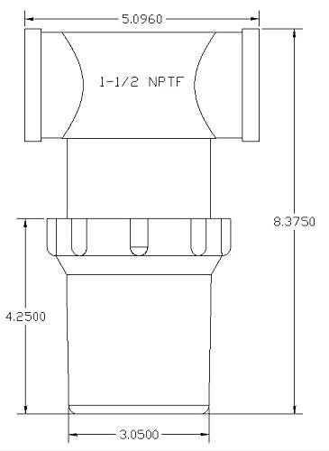 1-1/2'' Female NPT In-line Strainer with 50 mesh stainless steel screen