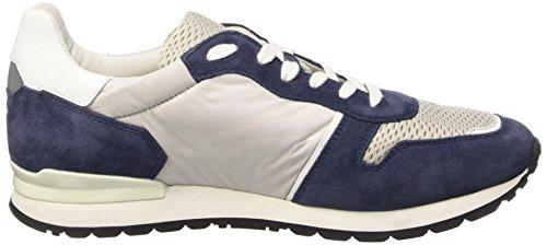 Bikkembergs Mant 650 L.Shoe M Nylon/Suede, Sandalias con Plataforma para Hombre Multicolor (Jeans/Grey/White)