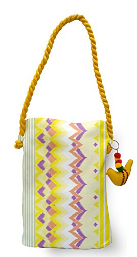 Travel Ikat Bag Bag Tote Womens Canvas meSleep Mauve Yellow Shoulder Sling xqROIIS
