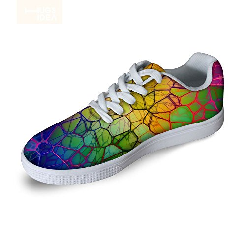 Per Te Disegni Cool Mens Graffiti Low Top Comode Scarpe Da Skateboard Lace-up Sneaker Multi 1