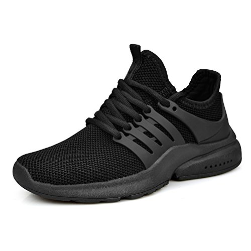 ZOCAVIA Women's Running Shoes Ultra Lightweight Breathable Mesh Sport Sneaker Casual Athletic Shoes(Black,Size 5.5)