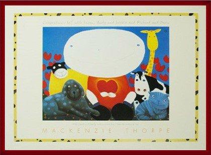 ポスター マッケンジー ソープ Celebration 額装品 ウッドベーシックフレーム(レッド) B00LCUF89K レッド レッド