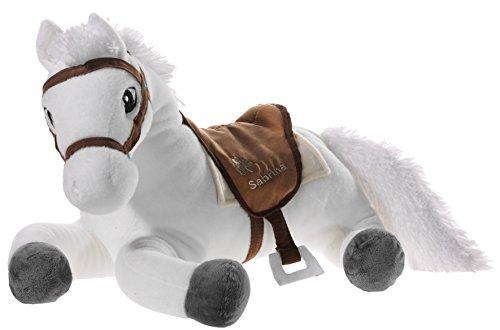 Bibi & Tina 637672 Sabrina the Horse Stuffed Animal, in Lying Position, White / Brown