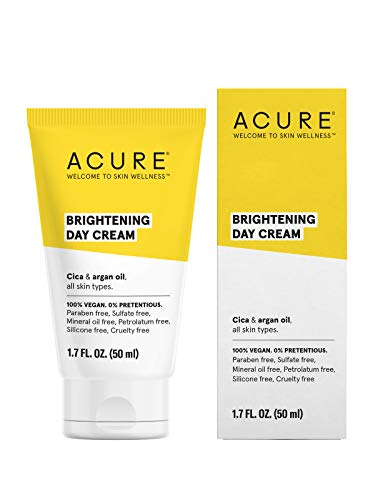 ACURE Brightening Day Cream | 100% Vegan | For A Brighter Appearance | Cica & Argan Oil - Moisturizes, Fights Dullness & Improves Skins Appearance | All Skin Types  | 1.7 Fl Oz