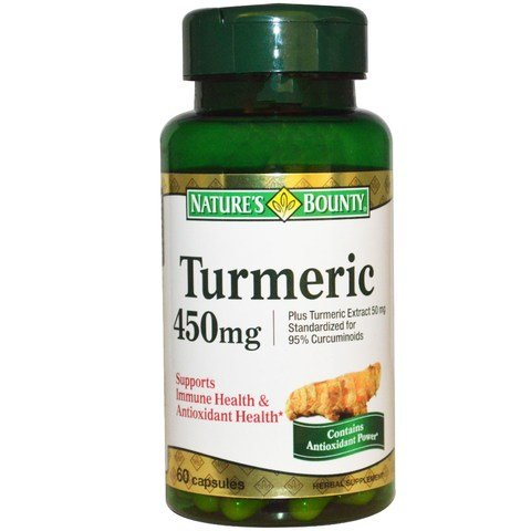 41gekCXABCL - Nature's Bounty Turmeric Curcumin 450 mg, 60 Capsules
