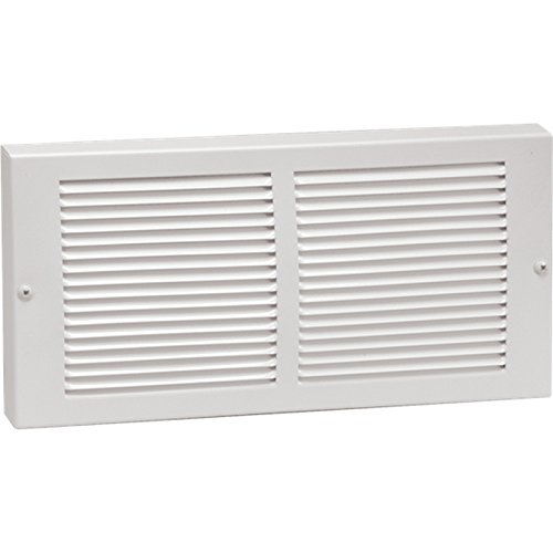 12'' X 6'' Baseboard Return Air Grille - HVAC Vent Duct Cover - 7/8'' Margin Turnback For Flush Fit With Baseboard Work - White by HVAC Premium (Image #1)