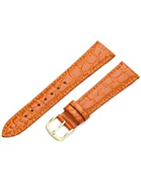 Hadley-Roma Men's MSM717RAG200 20mm Orange Crocodile Grained Leather Watch Strap