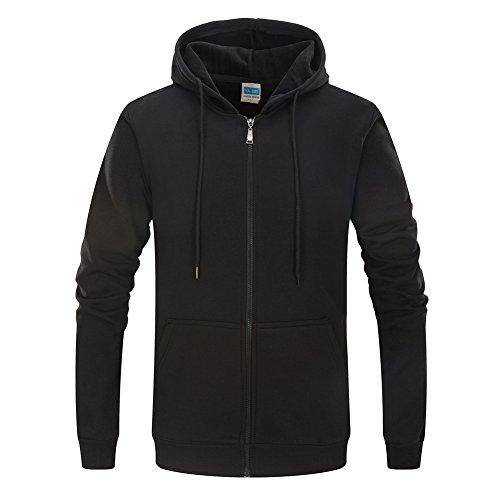 Zipper Hooded Fleece - 1