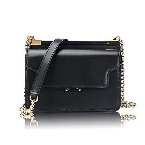 Olyphy Designer Crossbody Bag Purse for Women, Classic Box Shoulder Bag Vintage Tofu Handbag (black1)