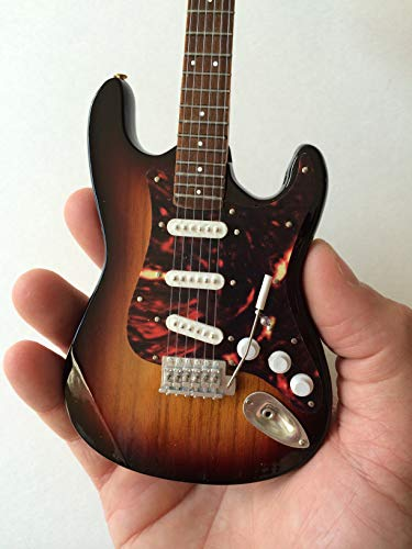 John Mayer Signature Sunburst Fender Strat Miniature Replica Guitar