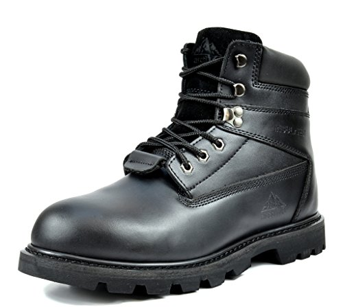arctiv8 Men's Earth-03 Black 6 Inches Full-Grain Leather Work Boots - 11.5 M US -