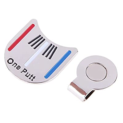 Tinksky Golf Ball Line Liner Marker-Golf Alloy Alignment Aiming Tool Ball Marker Magnetic Hat Clip