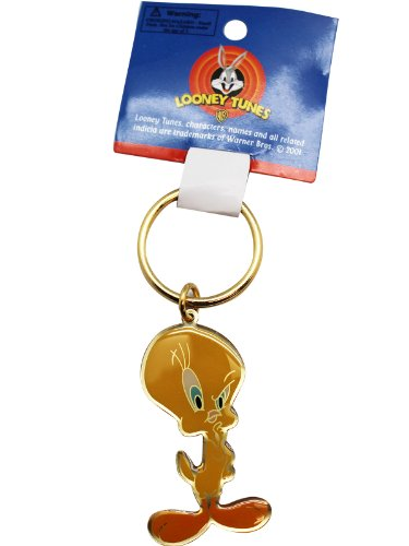 Warner Bros Golden Looney Tunes Tweety Bird Keychain ()