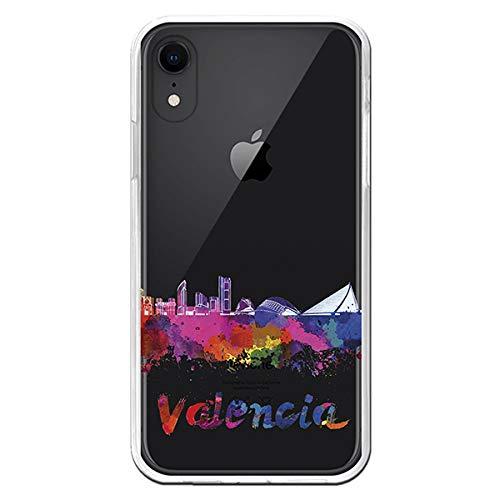 La Casa de Las Carcasas Carcasa Skyline Valencia Transparente iPhone XR